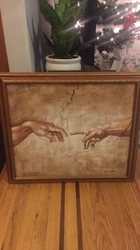 The Creation by Michaelangelo hand painting