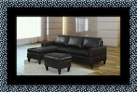 Black sectional with ottoman Bowie, 20716