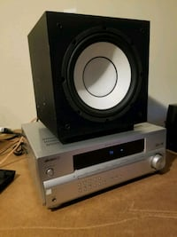 Pioneer receiver and Yamaha subwoofer