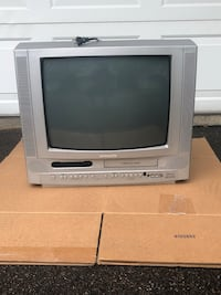 gray CRT television with remote Plymouth, 55447