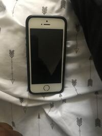 silver iPhone 5s with black rear case
