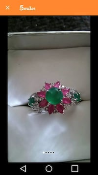 925 Silver Plated Ring Size 8. New.