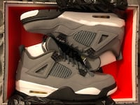 Jordan retro 4 cool grey size 12 DS Falls Church, 22043