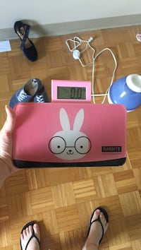 pink and black Rabbite device