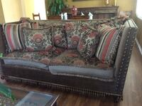 brown and red floral fabric sofa Moorpark, 93021