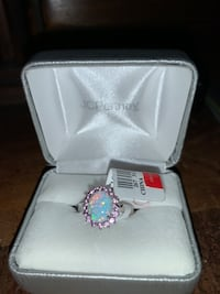 SS LC Opal ring