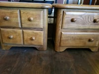 Two end tables, solid wood Ramona, 92065