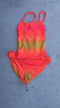 Pink and Yellow Ombré kids bathing suit Myrtle Beach, 29579