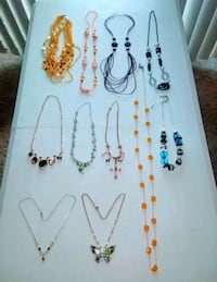 11 Beautiful Necklaces , price for all .. Frederick
