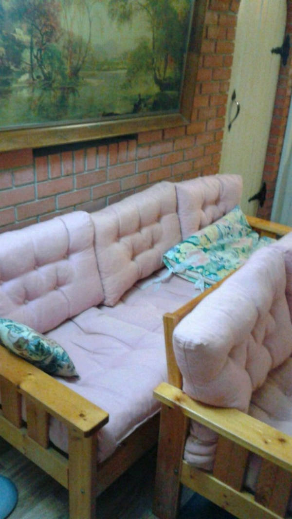 Couch/Sofa and loveseat. With 2 spare cushions