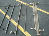 queen king bed frame center bars and frames