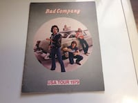 Bad Company 1979 tour book Guelph, N1H
