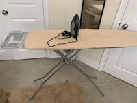 Ironing board with iron  Welland, L3C 3S9