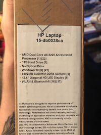 Black and gray hp laptop Surrey, V3R 7T7