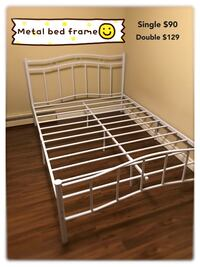 Brand new white metal platform bed frame in single and double warehouse sale  多伦多, M1S 4A9