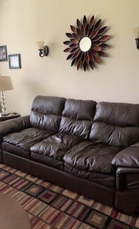 All Leather Sofa from Sears