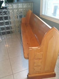 brown wooden church bench. Laval, H7N