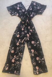 Wide-Leg Floral Jumpsuit