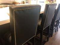 Bar stools with gold studs Vaughan, L4H 0X6