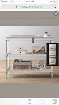 Restoration Hardware Airin Spindle Changing Table ($729 US) Easton, 18045