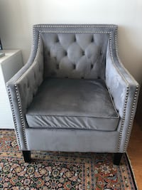 Move out sale - velvet tufted arm chair