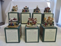 1992 Crystal Falls Christmas Village Buildings/Figurines Chesterfield