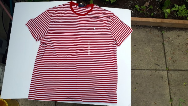 Ralph Lauren Polo Stripped T-Shirt Red/White NWT Large/Medium 4