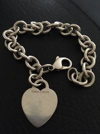 """TIFFANY&CO. Sterling Silver Bracelet 8"""" Annapolis, 21401"""