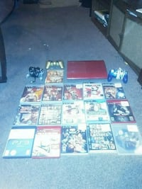 red PS3 with controller and game case lot Reading, 19601