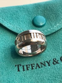 TIFFANY & CO  ATLAS STERLING SILVER RING SIZE 3 Chantilly, 20152