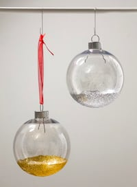 Hand made glitter christmas ornaments Fort Lauderdale, 33301