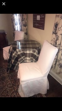 Two chairs removable covers and table with table cloth  Fayetteville, 72703