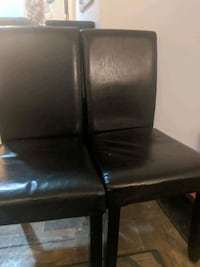 Black leather kitchen chairs Calgary, T3B 1S7