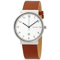 New Men's SKAGEN Watch with Genuine Leather Strap Calgary, T2W