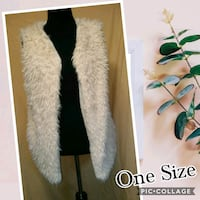 women's white fur vest Waldorf