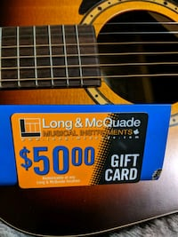 $50 gift card - Long and McQuade Mississauga, L4Z 0A3