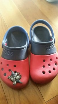 toddler's pair of red-and-black Crocs rubber clogs Montgomery Village, 20886