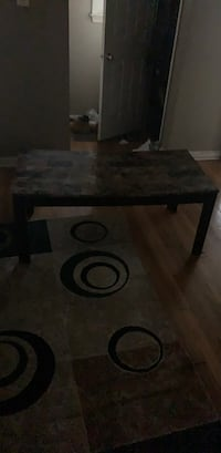 rectangular brown wooden coffee table Detroit, 48228