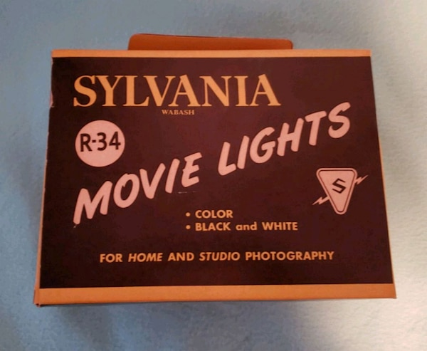 Used Vintage Sylvania R 34 Movie Flood Lights For Sale In Libertyville Letgo