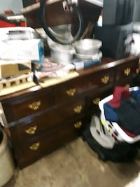 Dresser with mirror, and matching chest of drawers.