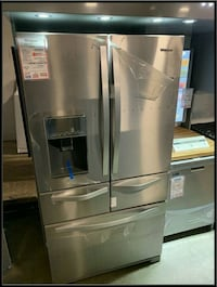 New 5 door French door stainless fridge 