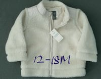 BNWT GAP 12-18M Fleece Jacket Milton