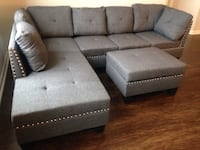 New Gray Sofa/Sectional w/Storage Ottoman  Silver Spring