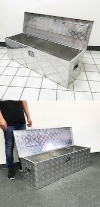 """New $110 Large 49"""" Aluminum Truck Pickup Tool Storage Box with Lock and Handle 49""""x15.5""""x15.5"""" Whittier"""