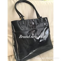 black leather 2-way handbag Edmonton, T5T 6T5