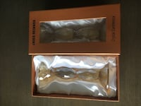 round amber crystal candlestick with box TORONTO