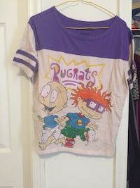 purple and white Rugrats crew-neck t-shirt Nokesville, 20181
