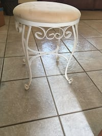 white metal base brown wooden top table Romeoville, 60446