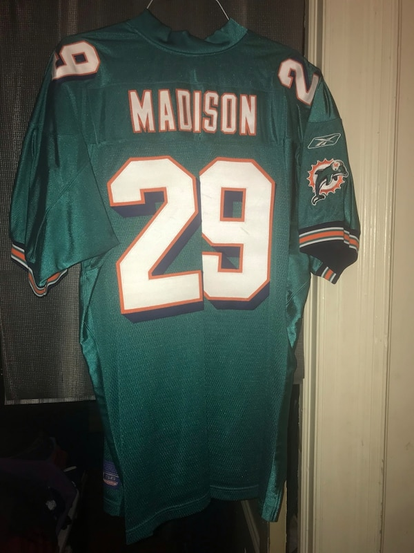 the best attitude 0ff29 06767 Reebok: Sam Madison • Miami Dolphins • Authentic NFL Jersey