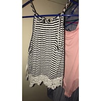 black and white striped spaghetti strap dress Imperial, 92251